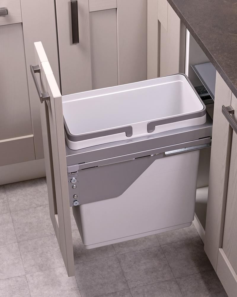 300mm waste bin, 1 compartment