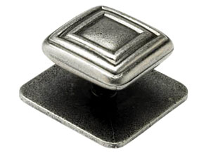 C3 Knob and backplate, square, 45mm