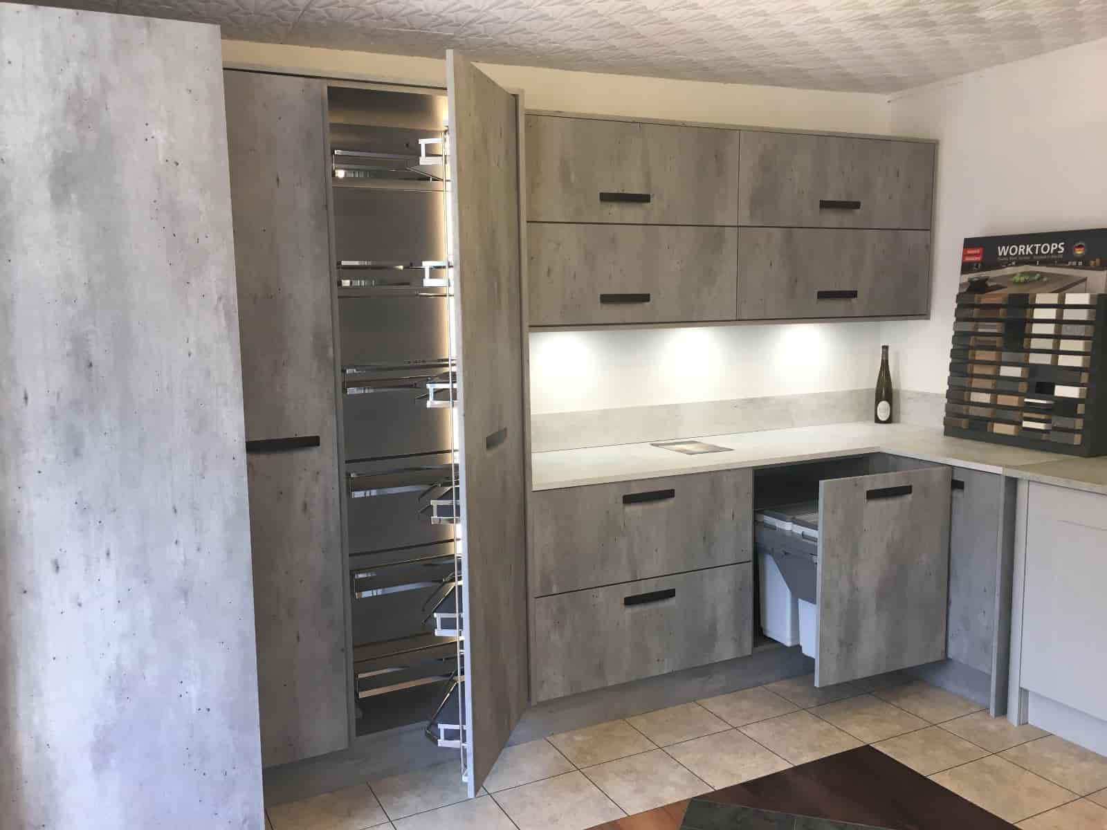 London Concrete Kitchen Cabinets