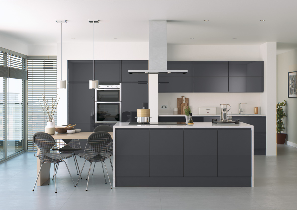 Senza Handleless High Gloss Anthracite