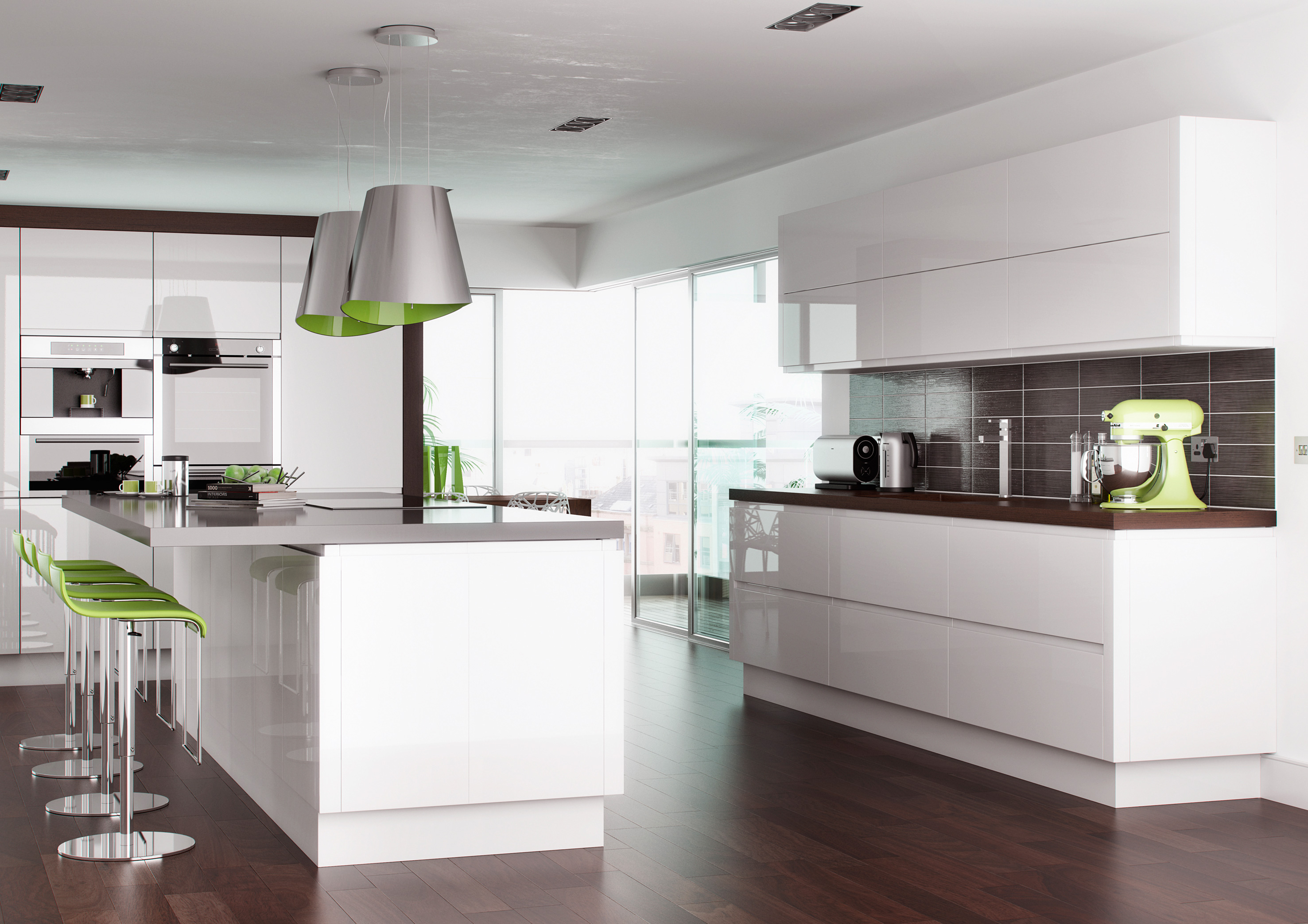 Stylish Handleless Gloss Kitchens from Discount Kitchen Factory